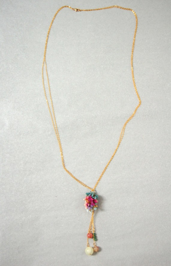 chiffon lariat necklace