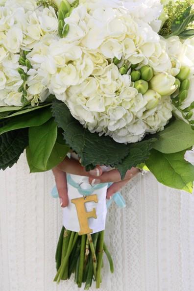 bouquet charm on bouquet