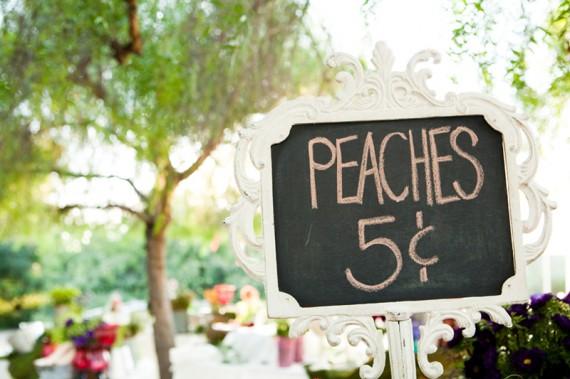 rustic wedding favors - peaches 3