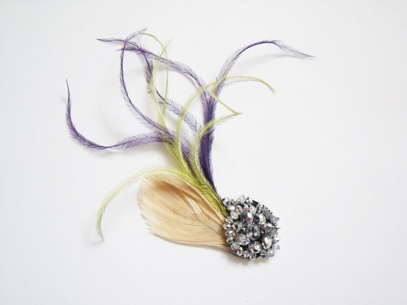 handmade feather fascinator