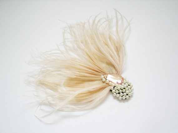 feather bridal fascinator