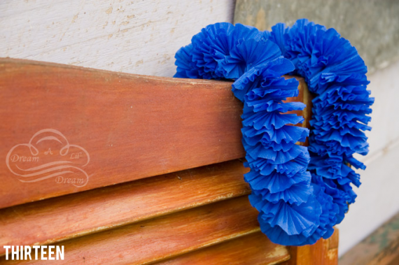 crepe paper wedding leis
