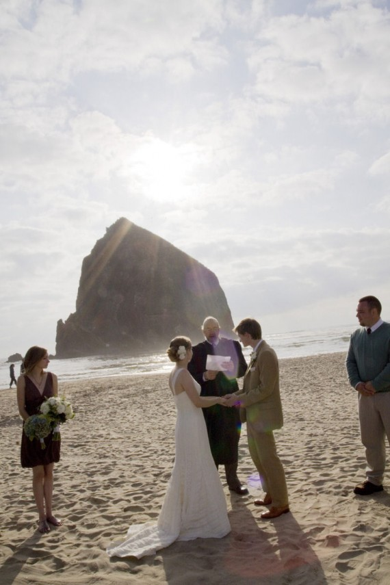 handmade beach wedding
