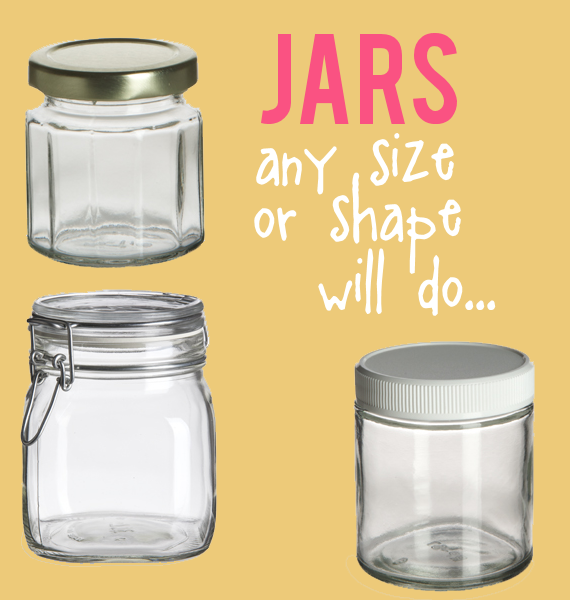 wedding bubbles in a jar - different jar sizes
