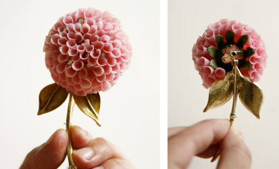 vintage flower brooch - 2
