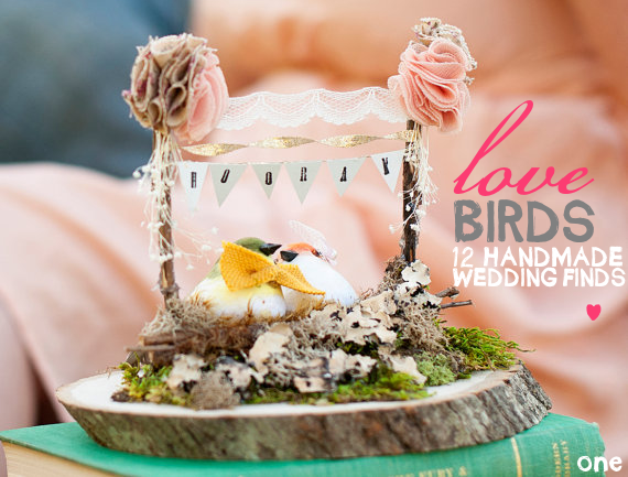 handmade love bird wedding items