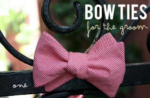 bow ties for the groom