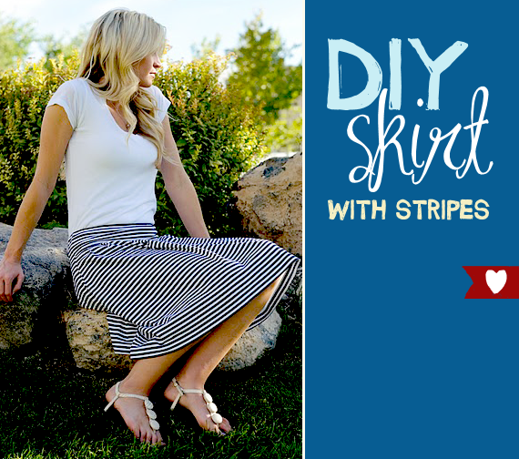diy striped skirt