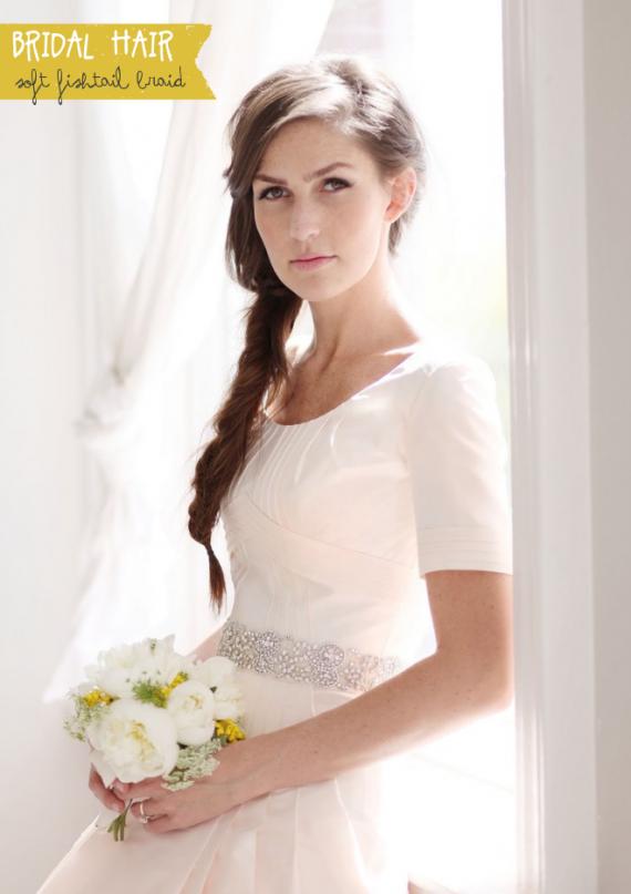 bridal fishtail braid