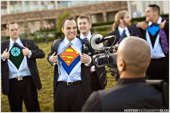 superhero photo op