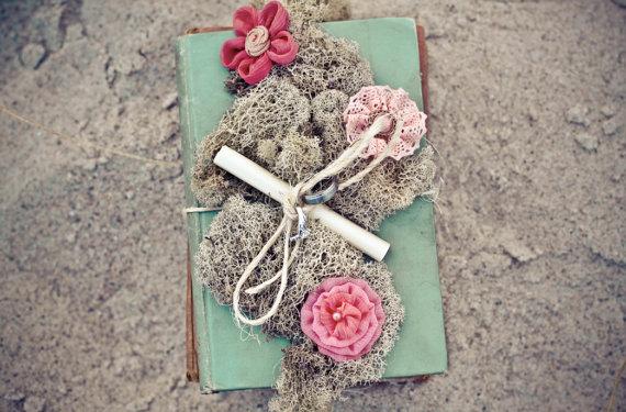 beach wedding ring pillow
