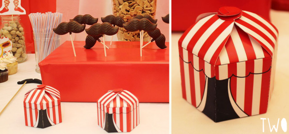 Circus Wedding Inspiration - favor boxes