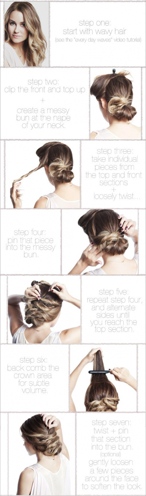 bridal hair style twisted bun
