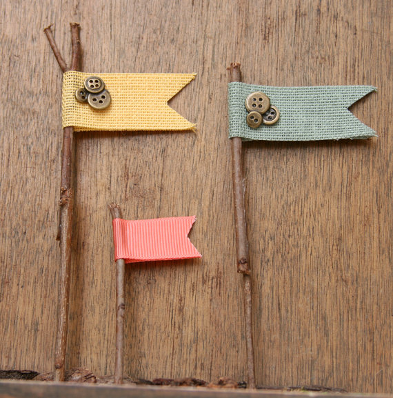 rustic cupcake toppers