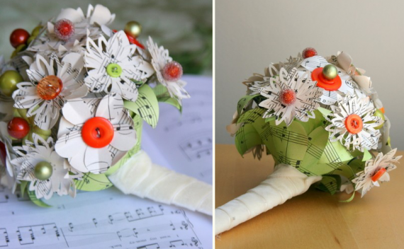 sheet music bouquet