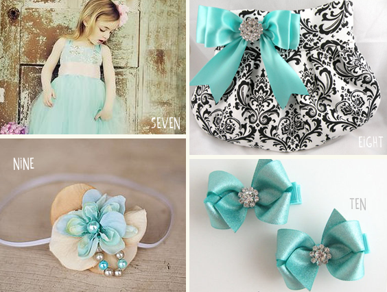 tiffany blue flower girl