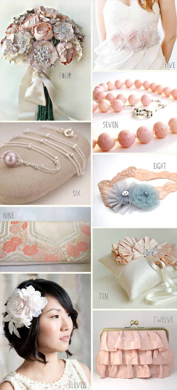 pink wedding accessories