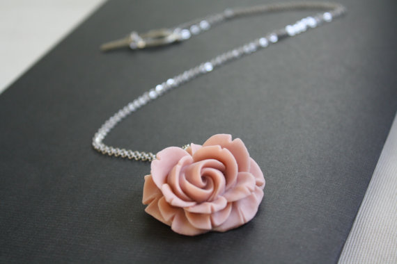 pink bridal necklace
