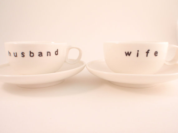 husband wife espresso cups