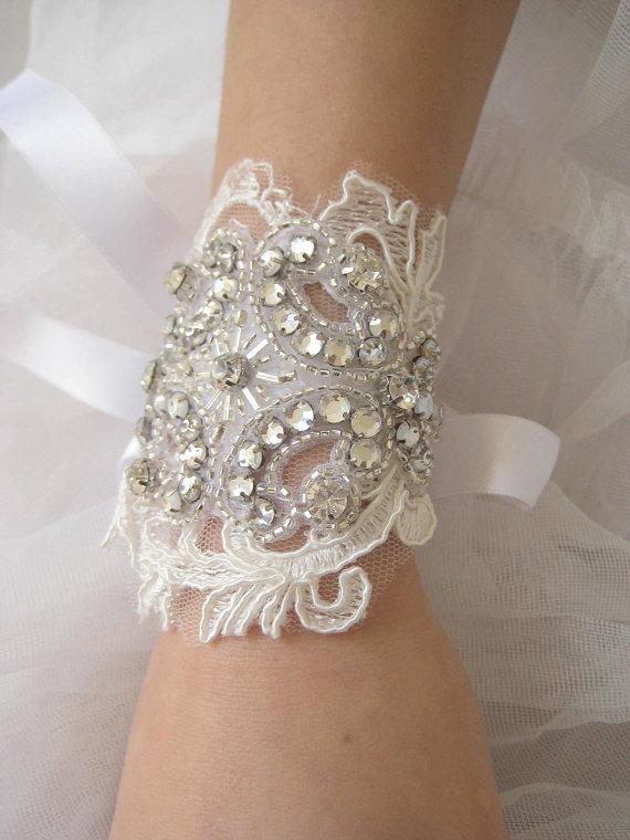 handmade bridal cuff