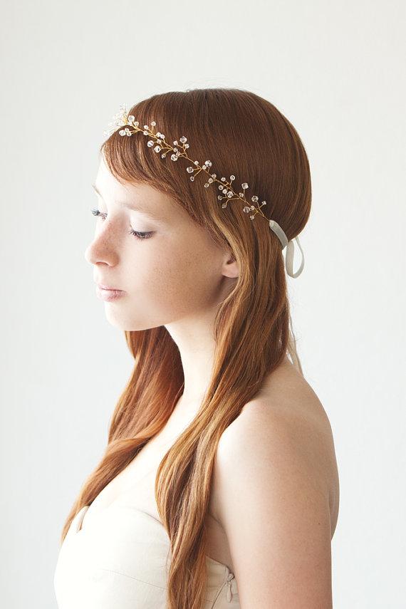 fall wedding hair piece