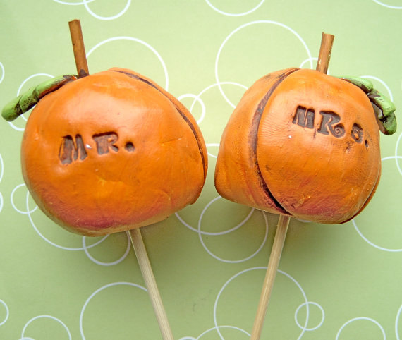 pumpkin cake topper