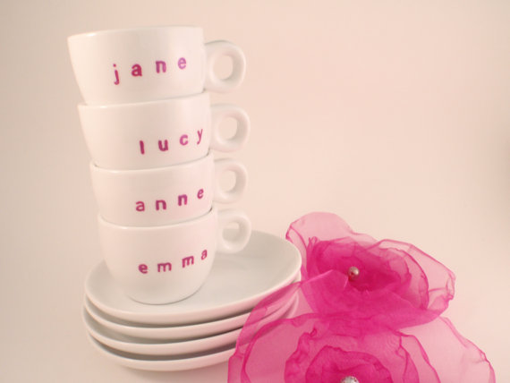 bridesmaid espresso cups
