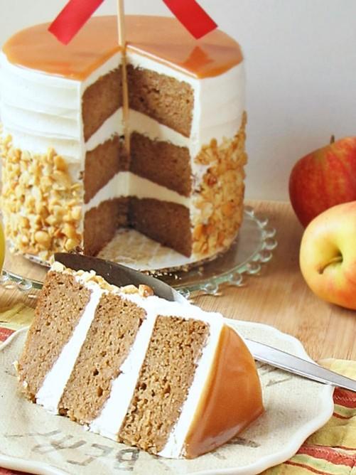 caramel apple wedding cake