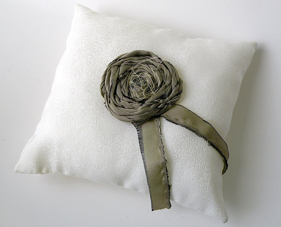 linen ring bearer pillow
