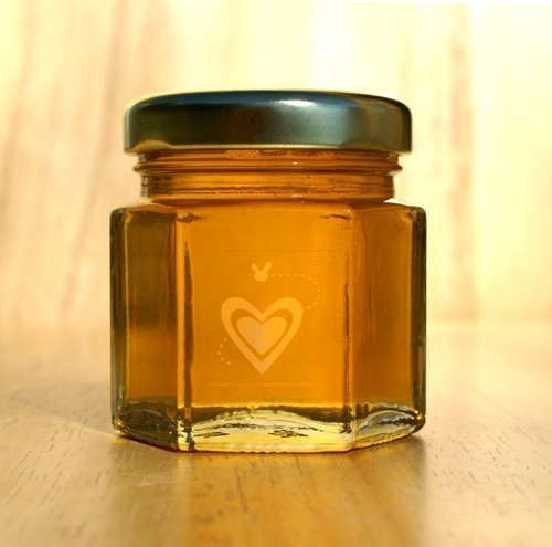 honey themed wedding - honey favor jar