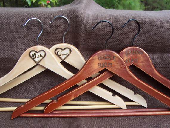 rustic wedding hangers