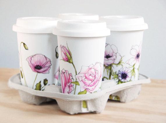 bridesmaid travel mug - handmade wedding