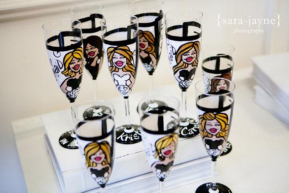 bridal party glasses