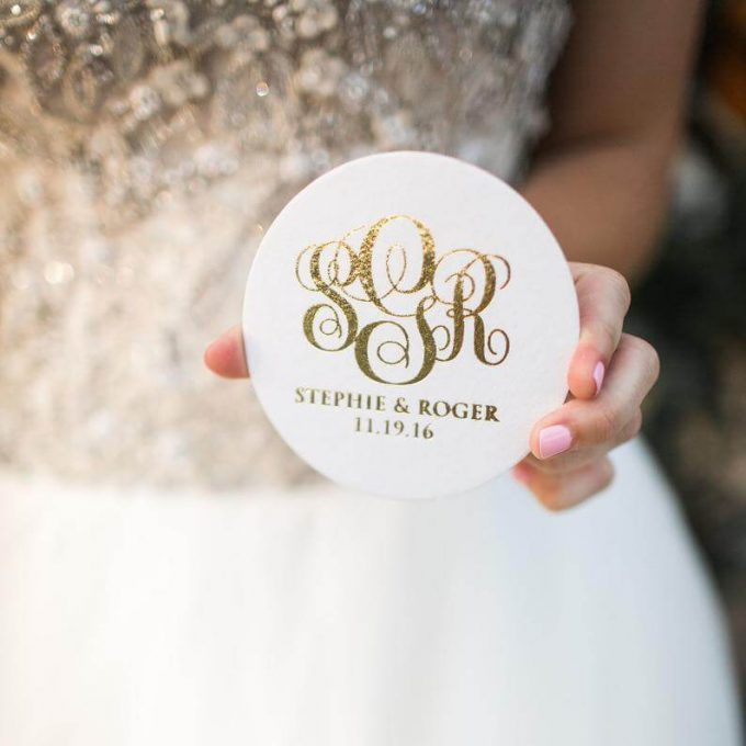 wedding coaster favors