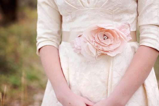 pink dress sash