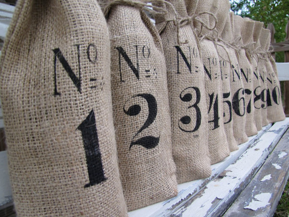 burlap wedding wine bottles