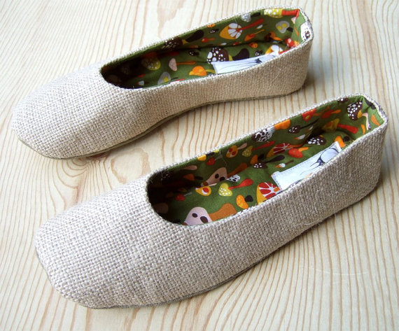 burlap wedding shoes