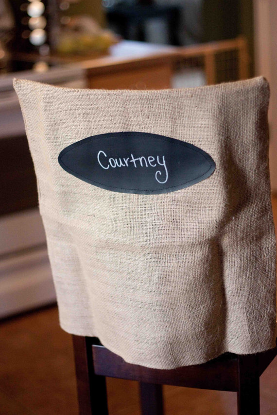 burlap wedding chair cover