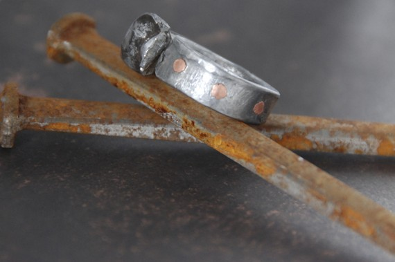 steampunk funk - barn nail ring