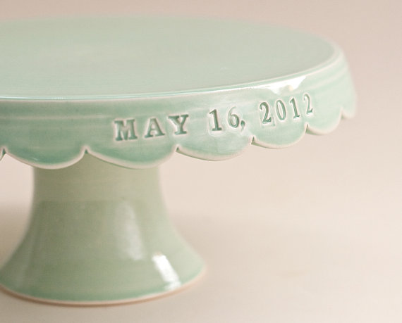 personalized wedding cake stand