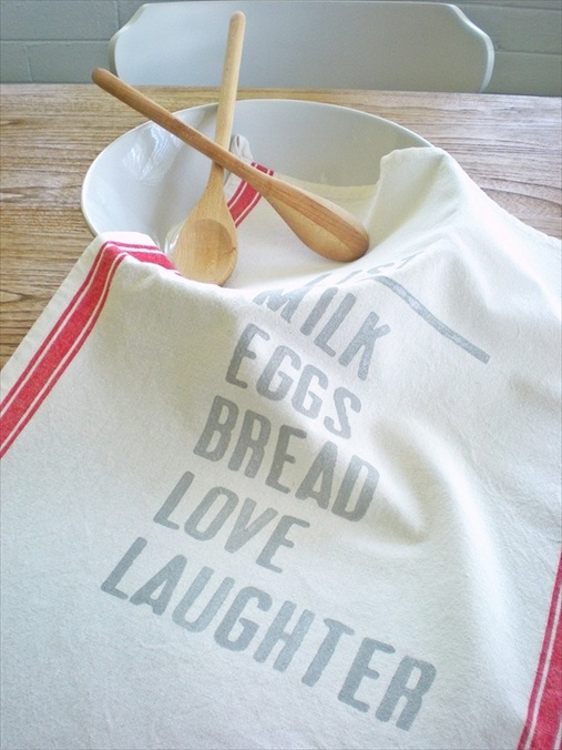 handmade tea towels
