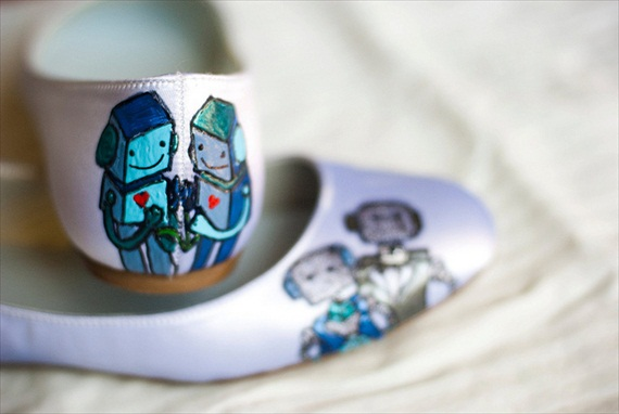 robot themed wedding