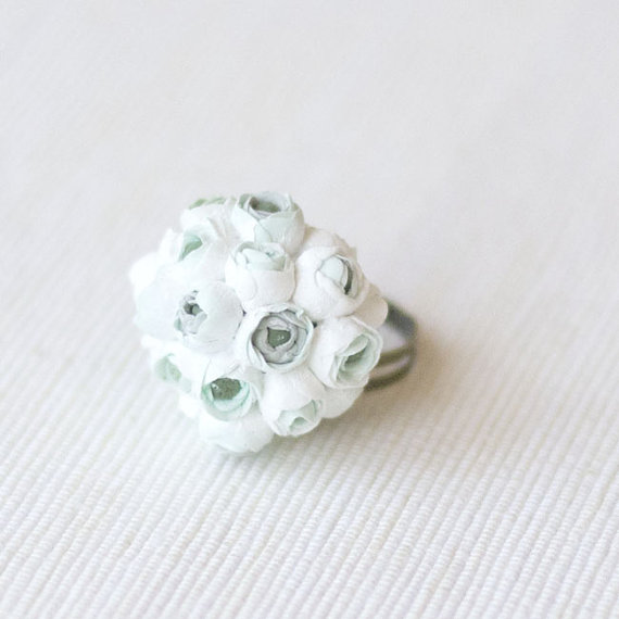 clay bouquet rings