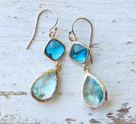 something blue earrings
