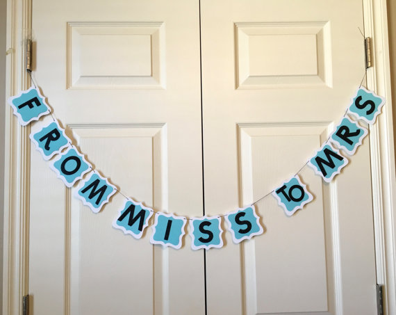 miss to mrs breakfast at tiffanys bridal shower banner