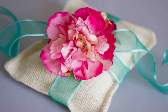hot pink and blue wedding