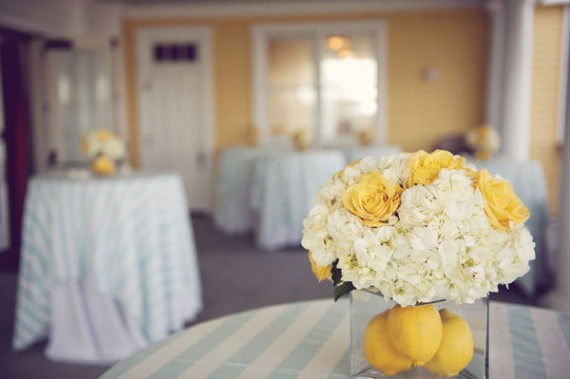 diy lemon centerpiece