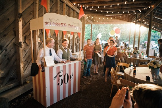 How to Entertain Guests at a Wedding - wedding kissing booth