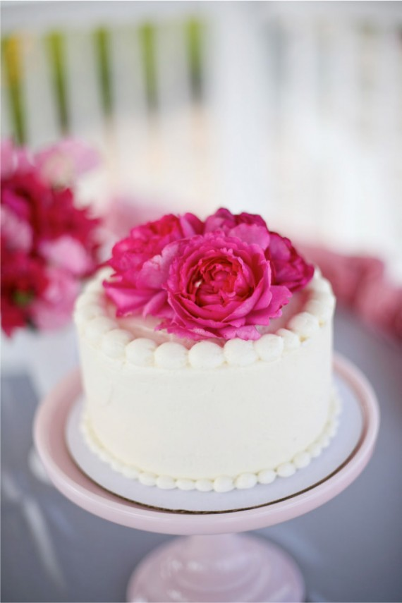 hot pink blue wedding