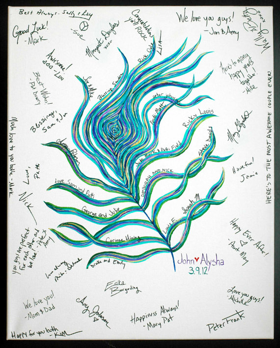 peacock guest book alternative
